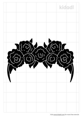 floral-crown-stencil