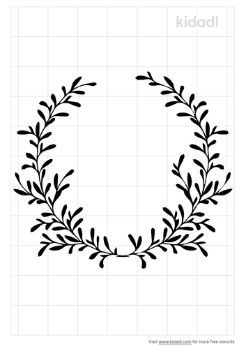 floral-wreath-stencil