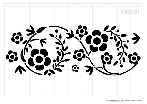 flower-and-vine-border-stencil