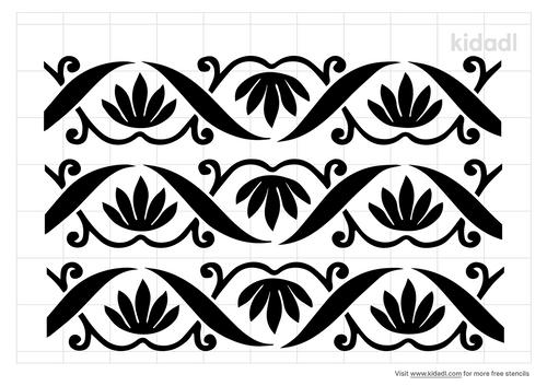 flower-arch-stencil