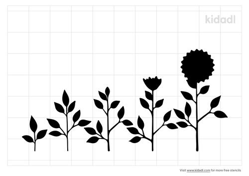 flower-growing-stencil