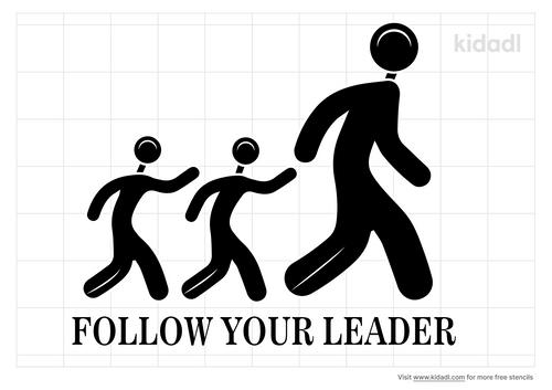 follow-your-leader-stencil