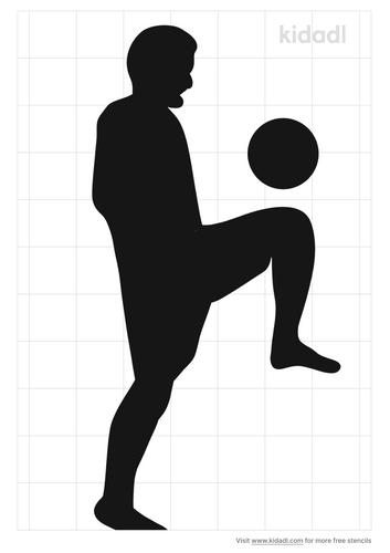 football-player-stencil