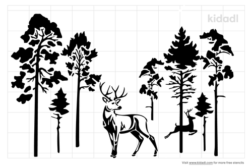 forest-with-deer-stencil