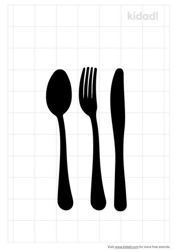 fork-knife-spoon-stencil