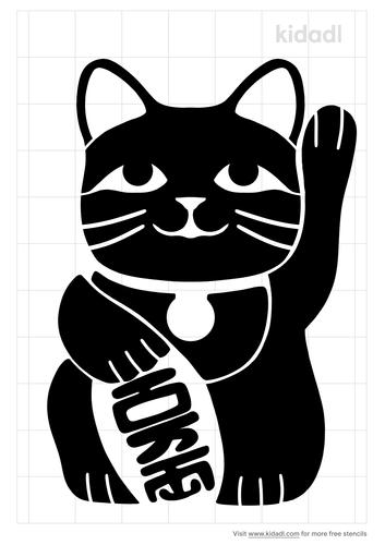 fortune-cat-stencil