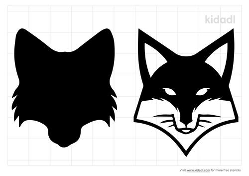 fox-face-stencil