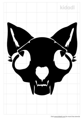 fox-skull-stencil