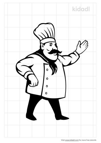 french-chef-stencil