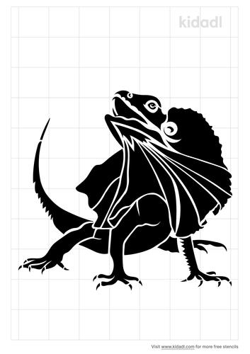 frilled-lizard-stencil
