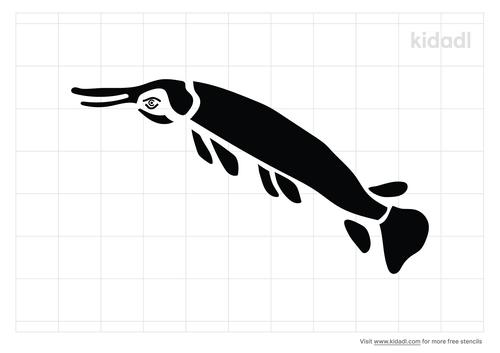 gar-fish-stencil