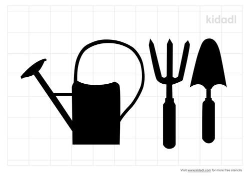 gardening-tools-stencil