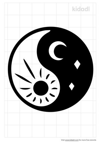 gemini-sun-and-moon-stencil