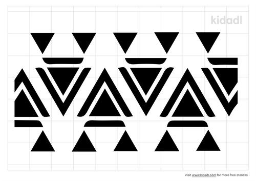 geometric-border-stencil