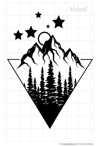 geometric-landscape-stencil