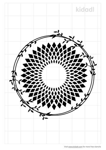geometric-round-leaves-stencil