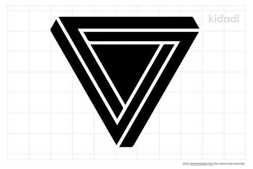 geometric-triangle-stencil