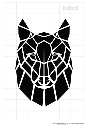 geometric-wolf-stencil