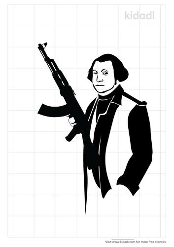 george-washington-with-a-gun-stencil