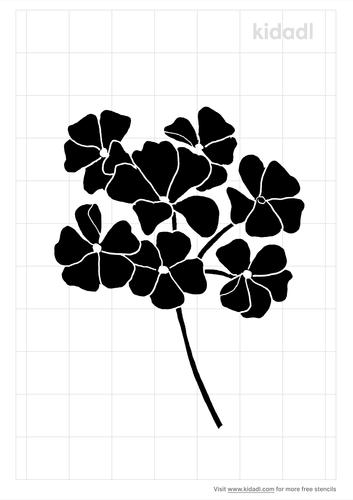 geranium-stencil