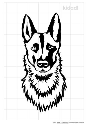german-shepherd-head-stencil