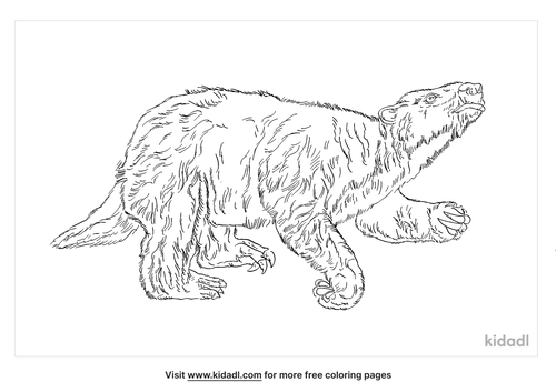 giant-ground-sloth-coloring-page