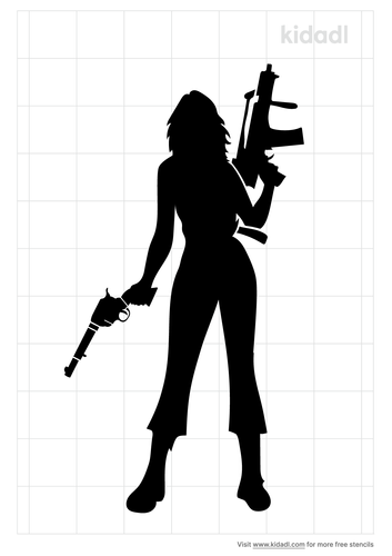 girl-with-gun-stencil