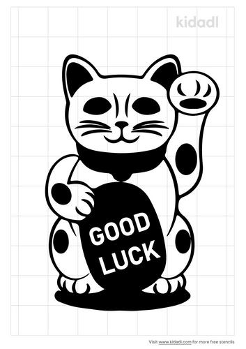 good-luck-cat-stencil