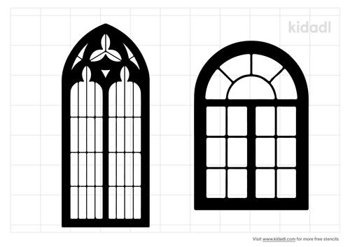 gothic-architecture-windows-stencil
