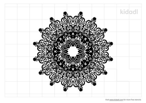 gothic-medallion-stencil