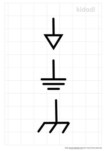 ground-symbol-stencil