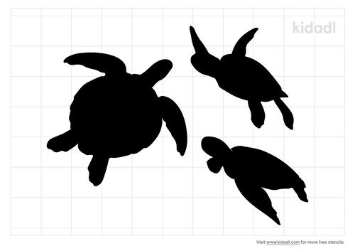 group-of-sea-turtles-stencil.png