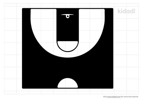 half-court-basketball-stencil