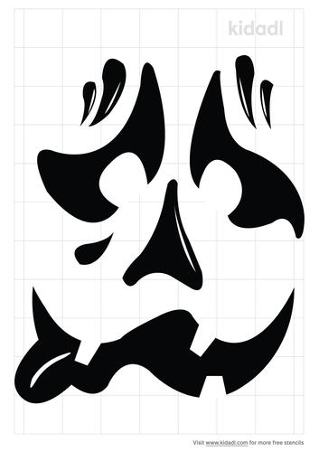 halloween-goofy-face-stencil