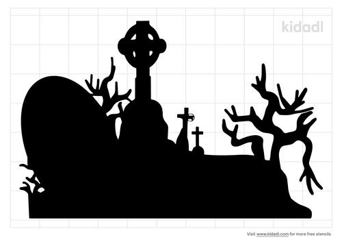 halloween-graveyard-stencil