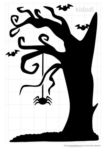 halloween-tree-stencil