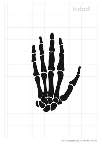 hand-skeleton-stencil