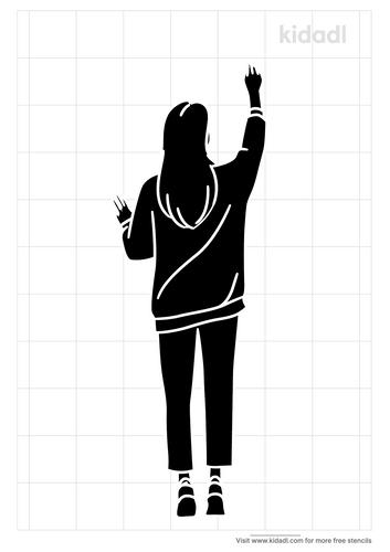 hands-up-stencil
