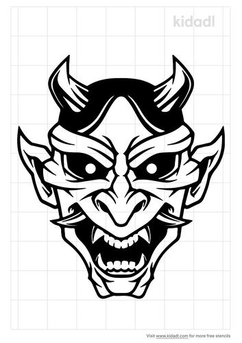 hannya-mask-stencil