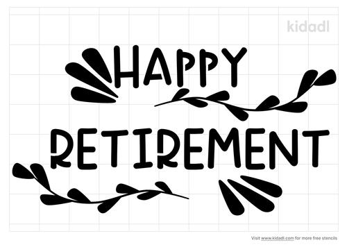 happy-retirement-stencil