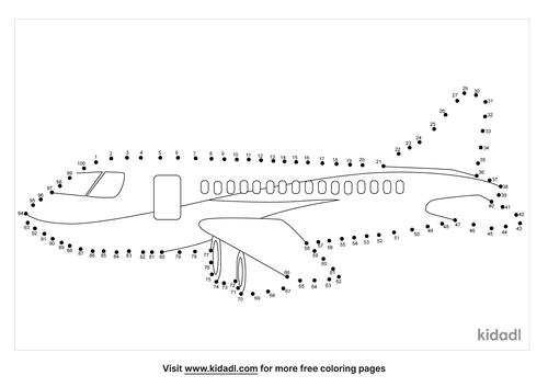hard-airplane-dot-to-dot