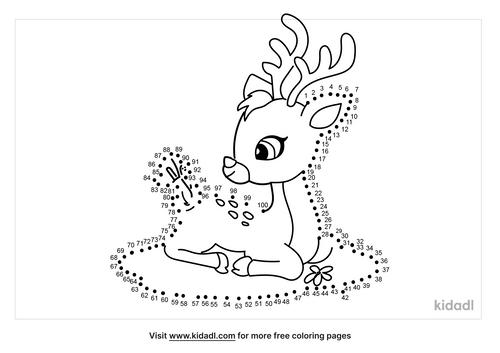 hard-baby-deer-dot-to-dot
