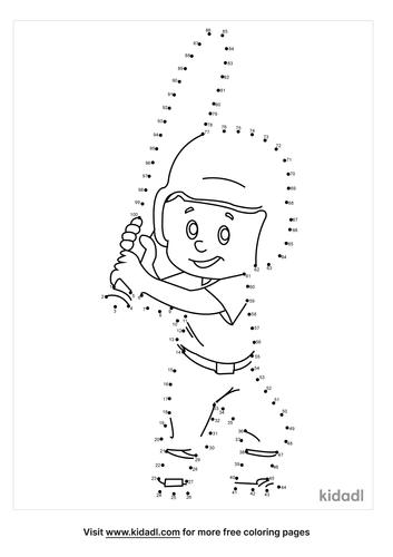 hard-baseball-player-dot-to-dot