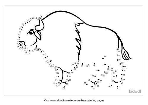 hard-bison-dot-to-dot