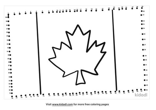 hard-canada-flag-dot-to-dot