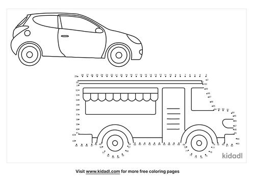 hard-car-and-truck-dot-to-dot