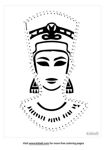 hard-cleopatra-dot-to-dot