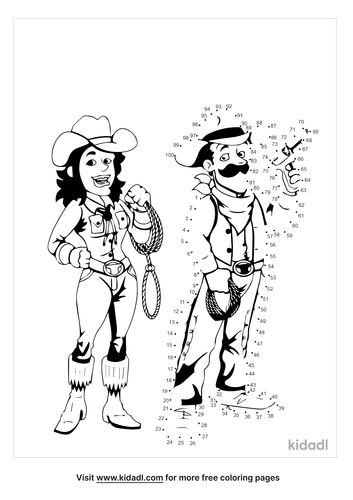 hard-cowgirl-and-cowboy-dot-to-dot