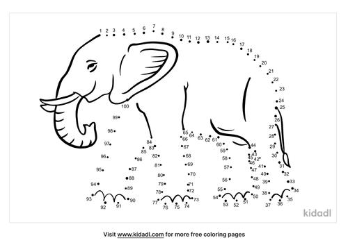 hard-elephant-dot-to-dot