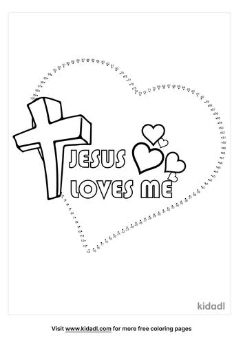 hard-jesus-loves-me-dot-to-dot